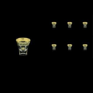 Fusion B5 FLGB H Liqueur Tumblers 65ml 6pcs in Antique&Leo Golden Black Decor+H (42-396/H)
