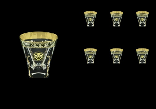 Fusion B2 FLGB H Whisky Glasses 270ml 6pcs in Antique&Leo Golden Black Decor+H (42-397/H)