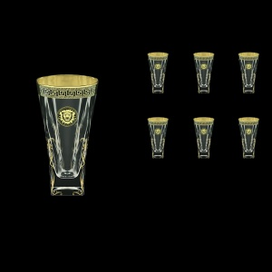Fusion B0 FLGB H Water Glasses 384ml 6pcs in Antique&Leo Golden Black Decor+H (42-398/H)