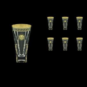 Fusion B0 FLGB H Water Glasses 384ml 6pcs in Antique&Leo Golden Black Decor+H (42-398/H)