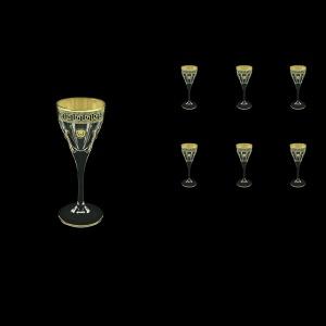 Fusion C5 FLGB H Liqueur Glasses 70ml 6pcs in Antique&Leo Golden Black Decor+H (42-430/H)