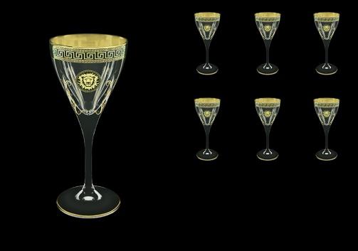 Fusion C3 FLGB H Wine Glasses 210ml 6pcs in Antique&Leo Golden Black Decor+H (42-431/H)