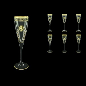 Fusion CFL FLGB H Champagne Flutes 170ml 6pcs in Antique&Leo Golden Black D.+H (42-434/H)