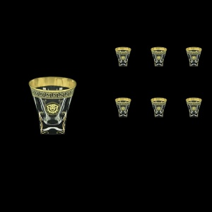 Fusion B3 FLGB H Whisky Glasses 200ml 6pcs in Antique&Leo Golden Black Decor+H (42-437/H)