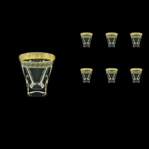 Fusion B2 FAGB H b Whisky Glasses 270ml 6pcs in Antique Golden Black Decor+H (57-397/H/b)