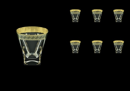 Fusion B2 FAGB H b Whisky Glasses 270ml 6pcs in Antique Golden Black Decor+H (57-397/H/b)