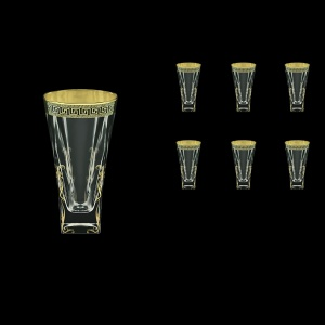 Fusion B0 FAGB H b Water Glasses 384ml 6pcs in Antique Golden Black Decor+H (57-398/H/b)