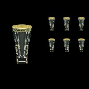 Fusion B0 FAGB H b Water Glasses 384ml 6pcs in Antique Golden Black Decor+H (57-398/H/b)