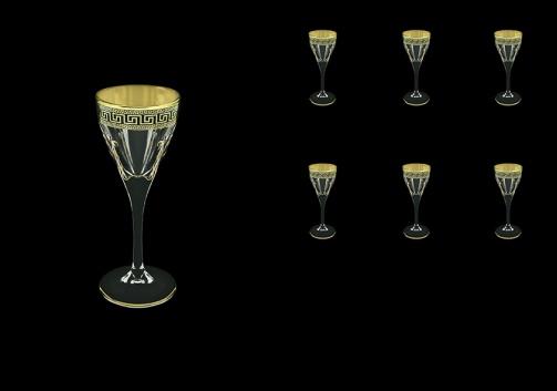Fusion C5 FAGB H b Liqueur Glasses 70ml 6pcs in Antique Golden Black Decor+H (57-430/H/b)