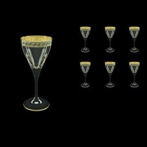 Fusion C3 FAGB H b Wine Glasses 210ml 6pcs in Antique Golden Black Decor+H (57-431/H/b)