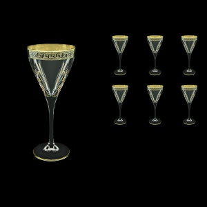 Fusion C2 FAGB H b Wine Glasses 250ml 6pcs in Antique Golden Black Decor+H (57-432/H/b)