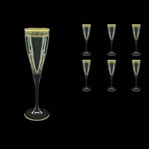 Fusion CFL FAGB H b Champagne Flutes 170ml 6pcs in Antique Golden Black D.+H (57-434/H/b)