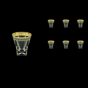 Fusion B3 FAGB H b Whisky Glasses 200ml 6pcs in Antique Golden Black Decor+H (57-437/H/b)