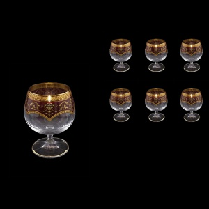 Bohemia Brandy CG BEGR Cognac Glasses 250ml 6pcs in Flora´s Empire Golden Red (22-167)