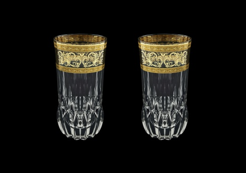 Adagio B0 AALK Water Glasses 400ml 2pcs in Allegro Golden Light Decor (65-647/2/L)