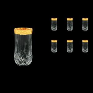 Opera B0 ONGC Water Glasses 350ml 6pcs in Romance Golden Classic Decor (33-237)