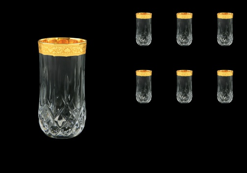 Opera B0 ONGC Water Glasses 350ml 6pcs in Romance Golden Classic Decor (33-237)