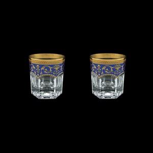 Provenza B3 PEGC Whisky Glasses 185ml 2pcs in Flora´s Empire Golden Blue Decor (23-526/2)