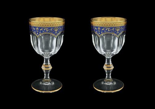 Provenza C3 PEGC Wine Glasses 170ml 2pcs in Flora´s Empire Golden Blue Decor (23-522/2)