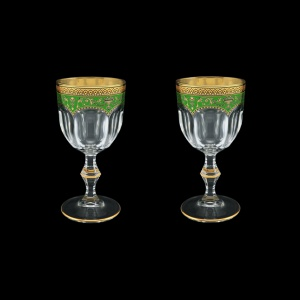 Provenza C3 PEGG Wine Glasses 170ml 2pcs in Flora´s Empire Golden Green Decor (24-522/2)