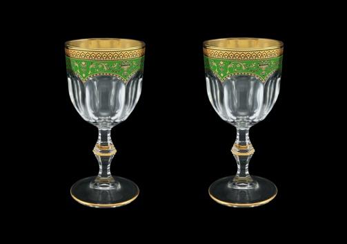 Provenza C3 PEGG Wine Glasses 170ml 2pcs in Flora´s Empire Golden Green Decor (24-522/2)