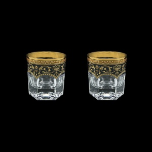 Provenza B2 PEGB Whisky Glasses 280ml 2pcs in Flora´s Empire Golden Black Decor (26-527/2)