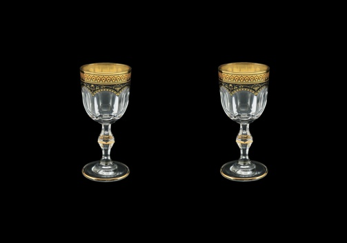 Provenza C5 PEGB Liqueur Glasses 50ml 2pcs in Flora´s Empire Golden Black Decor (26-521/2)