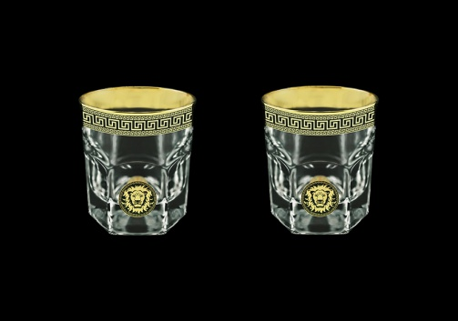 Provenza B2 PLGB Whisky Glasses 280ml 2pcs in Antique&Leo Golden Black Decor (42-136/2)