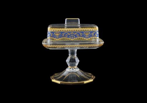 Victoria DOB VEGC Butter Dose 14,5x12cm, 1pc in Flora´s Empire Golden Blue L. (23-5K0L/L)