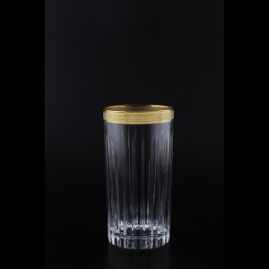 Timeless B0 A004G Water Glasses 440ml 6pcs in Royal Golden Embossed Decor (A004G-0800-L)