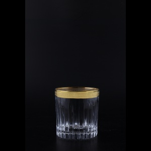 Timeless B2 A004G Whisky Glasses 360ml 6pcs in Royal Golden Embossed Decor (A004G-0802/L)