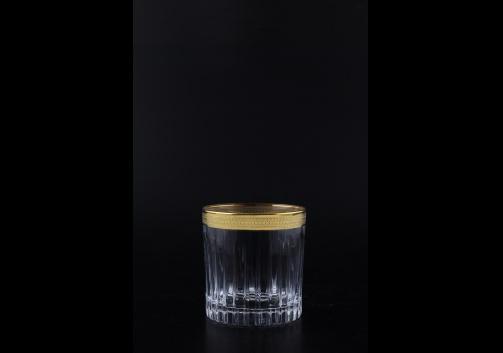 Timeless B2 A004G Whisky Glasses 360ml 6pcs in Royal Golden Embossed Decor (A004G-0802/L)