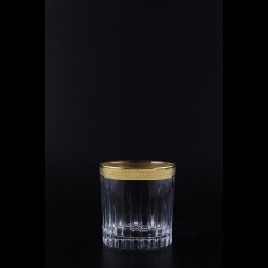 Timeless B3 A004G Whisky Glasses 313ml 6pcs in Royal Golden Embossed Decor (A004G-0803-L)
