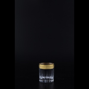 Timeless B5 A004G Liqueur Tumblers 78ml 6pcs in Royal Golden Embossed Decor (A004G-0805-L)