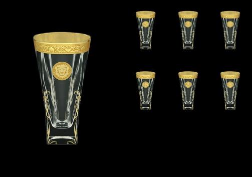 Fusion B0 FOGC H Water Glasses 384ml 6pcs in Romance&Leo Golden Classic Decor+H (43-398/H)