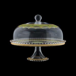 Zefyros SPY ZEGG Serving Plate d32cm, 1pc in Flora´s Empire Golden Green L. (24-5E0H/L)