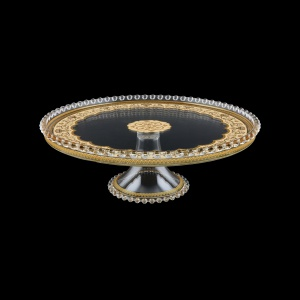 Zefyros CPY ZEGI Cake Plate d32cm, 1pc in Flora´s Empire Golden Ivory L. (25-5E75/L)