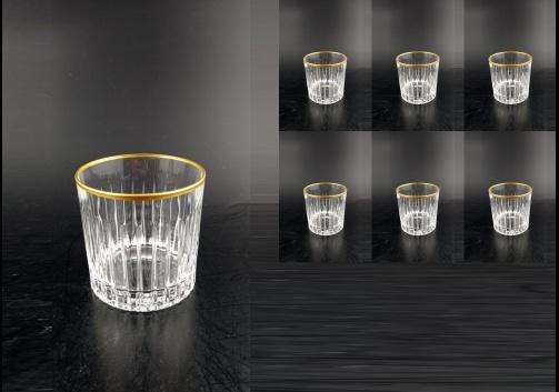 Timeless B3 A00MR Whisky Glasses 313ml 6pcs in Metalic Rim (A00M-0803)