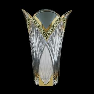 Lotus VV LAGB M Vase 25cm 1pc in Antique Golden Black Decor+M (57-216/b)