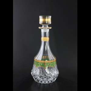 Adagio RD AEGG Round Decanter 1000ml 1pc in Flora´s Empire Golden Green Decor (24-599)