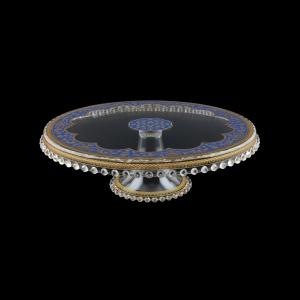 Zefyros CPY ZEGC Cake Plate Down d32cm, 1pc in Flora´s Empire Golden Blue L. (23-5E71/L)
