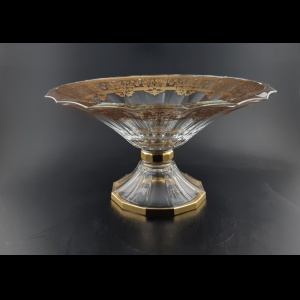 Doge MOA F0020 Large Bowl d34cm 1pc in Natalia Golden Crystal (F0020-1A21)