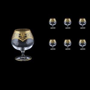 Bohemia Brandy CG BEGK Cognac Glasses 250ml 6pcs in Flora´s Empire Gold. Crystal(20-167/L)