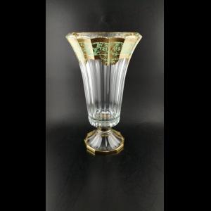 Doge VVA F002T Large Vase 40cm 1pc in Natalia Golden Turquoise (F002T-1A50)