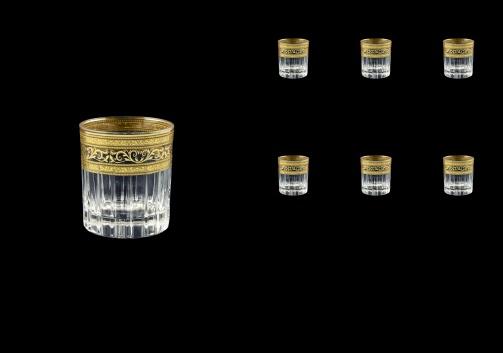 Timeless B5 TALK Liqueur Tumblers 78ml 6pcs in Allegro Golden Light Decor (65-0805/L)