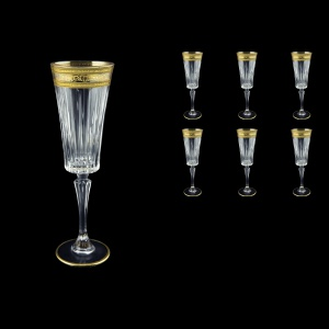 Timeless CFL TALK Champagne Fluetes 210ml 6pcs in Allegro Golden Light Decor (65-0810/L)