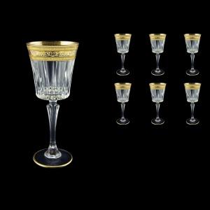 Timeless C2 TALK Wine Glasses 298ml 6pcs in Allegro Golden Light Decor (65-0812/L)
