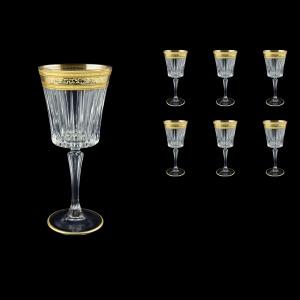 Timeless C3 TALK Wine Glasses 227ml 6pcs in Allegro Golden Light Decor (65-0813/L)