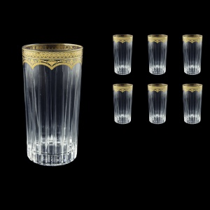 Timeless B0 TEGK Water Glasses 440ml 6pcs in Flora´s Empire Golden Crystal (20-0800/L)