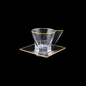 Fusion CA A00MR Cup Cappuccino 190ml 1pc in Metalic Rim (A00MR-0184)
